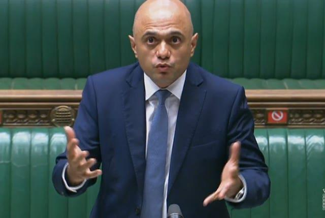 Health Secretary Sajid Javid will announce the Government's plans to MPs