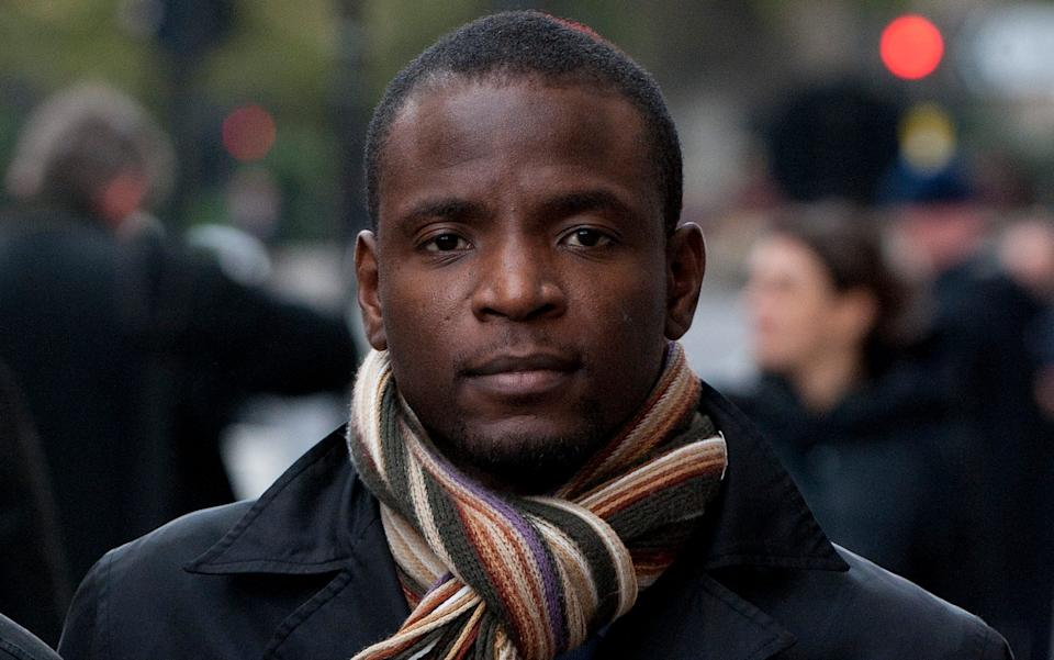 Duwayne Brooks leaving court in 2011 after giving evidence at the trial of Gary Dobson and David Norris, who were found guilty of the murder of Stephen Lawrence - Christopher Pledger