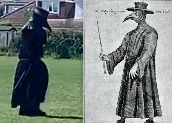 Someone has been roaming in public dressed as a 17th-century plague doctor. (PA/Wikipedia)