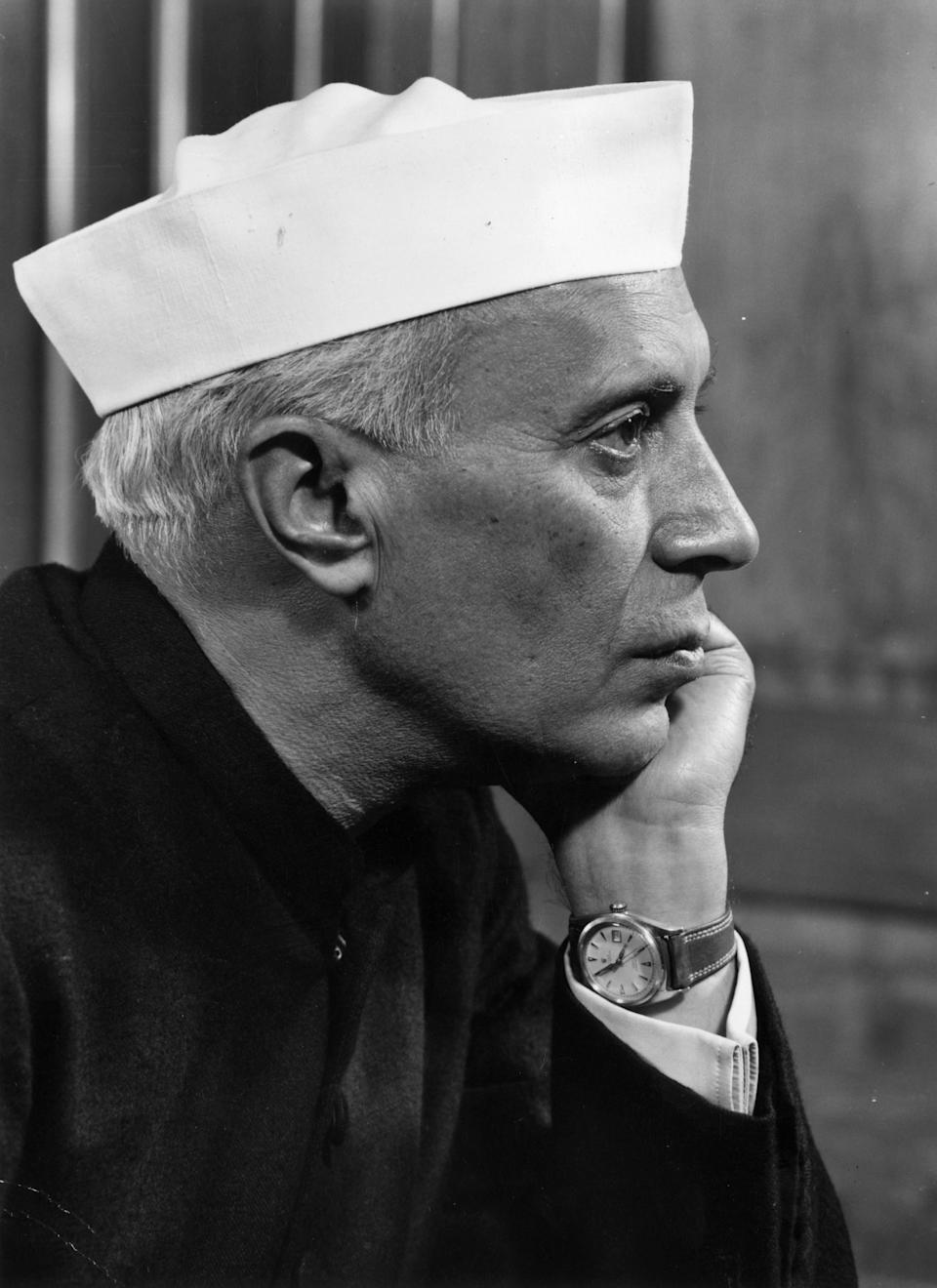 India's first prime minister, Jawaharlal Nehru, was one of the major forces that led India to independence. <em>Indian Prime Minister Jawaharlal Nehru (1889 - 1964). (Photo by Baron/Getty Images)</em>