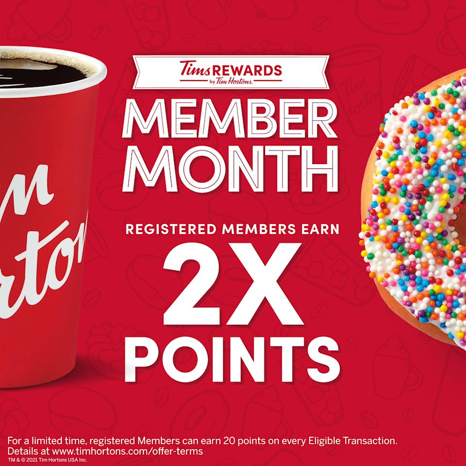 TIM HORTONS U.S. INTRODUCES MEMBER MONTH FOR LOYALTY GUESTS