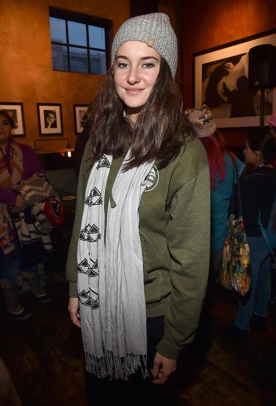<p>The actress-activist attends the Standing Rock Event at Zoom Restaurant on Jan. 23. (Photo by Alberto E. Rodriguez/Getty Images) </p>