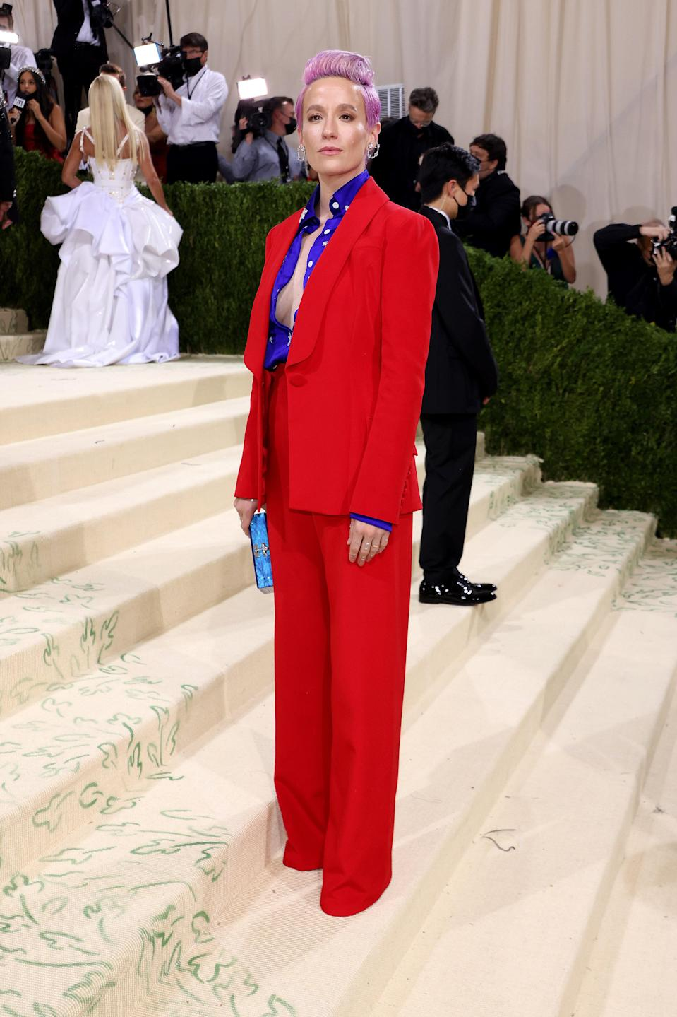 """<h1 class=""""title"""">Megan Rapino, The 2021 Met Gala Celebrating In America: A Lexicon Of Fashion - Arrivals</h1><cite class=""""credit"""">Getty</cite>"""