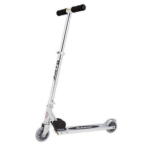 """<p><strong><em>Razor A3 Kick Scooter, $39</em></strong> <a class=""""link rapid-noclick-resp"""" href=""""https://www.amazon.com/Razor-A3-Kick-Scooter-Blue/dp/B000FK5PWI?tag=syn-yahoo-20&ascsubtag=%5Bartid%7C10050.g.35033504%5Bsrc%7Cyahoo-us"""" rel=""""nofollow noopener"""" target=""""_blank"""" data-ylk=""""slk:BUY NOW"""">BUY NOW</a></p><p>The Razor scooter is a compact kick scooter that enables riders to do tricks, spins, and flips, or just zoom around the neighborhood. Razors can be folded up for maximum portability. </p>"""