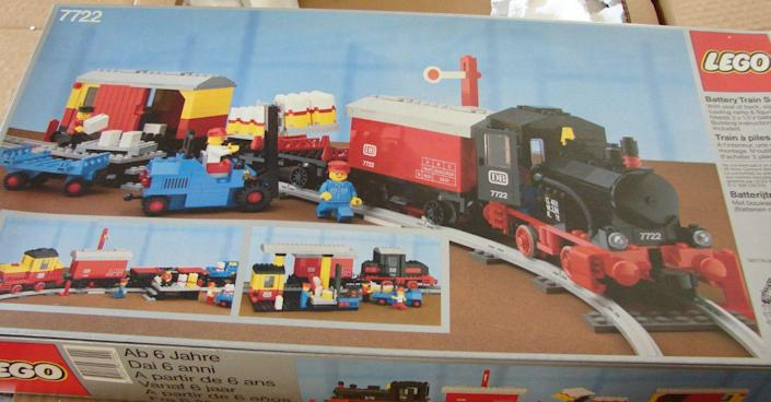 """<p>Take two things people are wildly passionate about (Lego + trains) and it's no wonder that the vintage railroad sets from the beloved brand command top dollar. Sets range from <a href=""""https://go.redirectingat.com?id=74968X1596630&url=http%3A%2F%2Fwww.ebay.com%2Fitm%2FNEW-Lego-Trains-7722-STEAM-CARGO-TRAIN-4-5-New-Sealed-%2F191803511943%3Fhash%3Ditem2ca8615487%253Ag%253AzrgAAOSwWTRWu2hO&sref=https%3A%2F%2Fwww.countryliving.com%2Fshopping%2Fantiques%2Fg3141%2Fmost-valuable-toys-from-childhood%2F"""" rel=""""nofollow noopener"""" target=""""_blank"""" data-ylk=""""slk:Steam Cargo Trains"""" class=""""link rapid-noclick-resp"""">Steam Cargo Trains</a> to <a href=""""https://go.redirectingat.com?id=74968X1596630&url=http%3A%2F%2Fwww.ebay.com%2Fitm%2FLego-Trains-7720-Diesel-Freight-Train-NEW-SEALED-1980-4-5V-Battery-%2F191783983225%3Fhash%3Ditem2ca7375879%253Ag%253A3AMAAOSwUV9WmrEg&sref=https%3A%2F%2Fwww.countryliving.com%2Fshopping%2Fantiques%2Fg3141%2Fmost-valuable-toys-from-childhood%2F"""" rel=""""nofollow noopener"""" target=""""_blank"""" data-ylk=""""slk:Diesel Freight Trains"""" class=""""link rapid-noclick-resp"""">Diesel Freight Trains</a> to <a href=""""https://go.redirectingat.com?id=74968X1596630&url=http%3A%2F%2Fwww.ebay.com%2Fitm%2FLego-12V-Train-7745-High-Speed-City-Express-Passenger-Train-New-1985-%2F190947128946%3Fhash%3Ditem2c7555f672%253Ag%253A1D4AAMXQrC9SbWPv&sref=https%3A%2F%2Fwww.countryliving.com%2Fshopping%2Fantiques%2Fg3141%2Fmost-valuable-toys-from-childhood%2F"""" rel=""""nofollow noopener"""" target=""""_blank"""" data-ylk=""""slk:High-Speed City Express Trains"""" class=""""link rapid-noclick-resp"""">High-Speed City Express Trains</a>, and all go for between $1,500 and $3,000. </p>"""