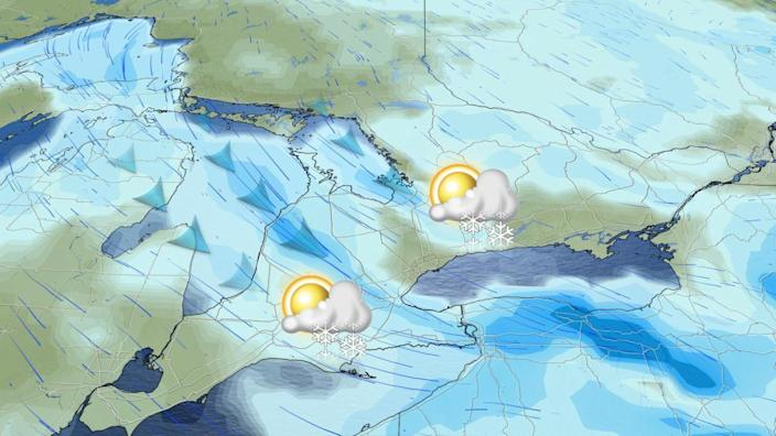 Winter flips the switch in Ontario with shots of snow, plunging temperatures