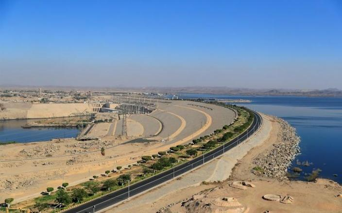 Egypt's High Dam in Aswan, lies some 700 kilometres south of the capital Cairo.