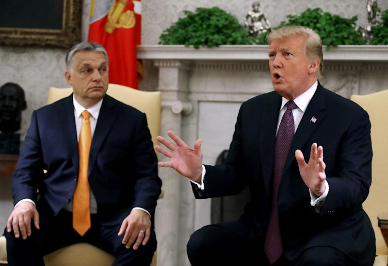 """During a meeting with Hungarian Prime MinisterViktor Orban, President Donald Trump congratulated France on the """"great job"""" they did freeing four kidnapped tourists in Burkina Faso, one of whom was American"""