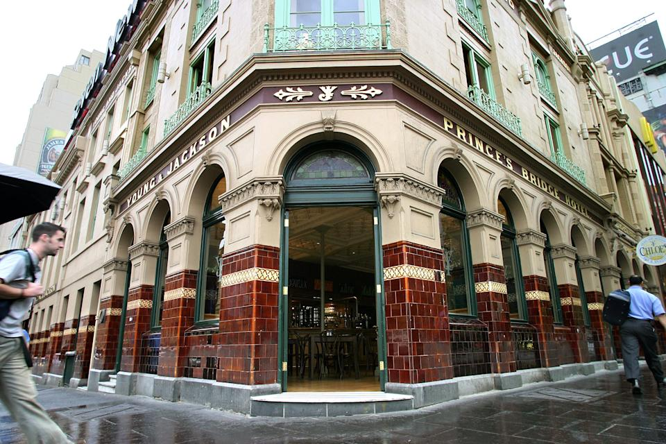 Young & Jackson's Hotel in Melbourne.