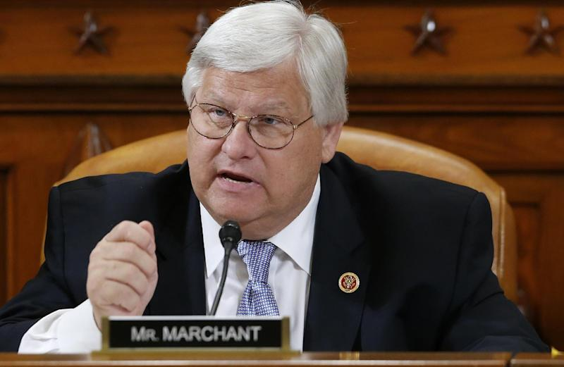 """FILE - In this May 17, 2013 file photo, Rep. Kenny Marchant, R-Texas speaks on Capitol Hill in Washington. The Republican establishment hopes an overhaul of immigration laws will help the party run stronger presidential races. But that goal is about to hit big hurdles in the form of House Republicans. Many House Republicans are hostile to the bipartisan immigration bill before the Senate. Even substantial changes to it may do little to placate those who demand strict crackdowns on unlawful border crossings and no """"amnesty"""" for people here illegally. (AP Photo/Charles Dharapak, File)"""