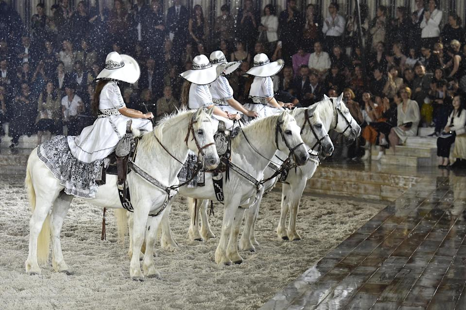 Jackson was upset about the treatment of the horses in Dior's show. (Photo: Victor VIRGILE/Gamma-Rapho via Getty Images)