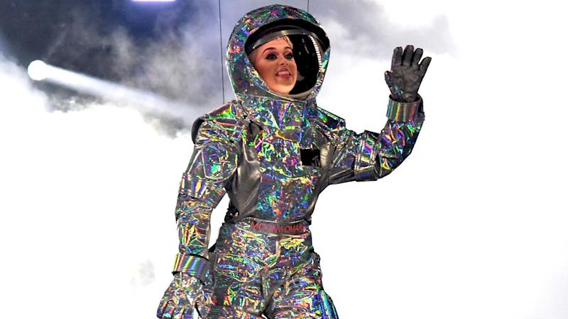 Katy Perry Gets Stuck in the Air While Suspended on Planet Prop -- Watch!