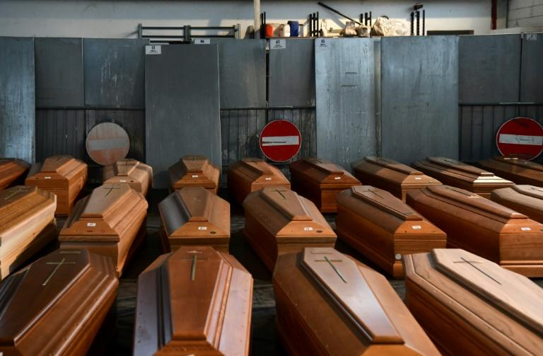 The endless flood of victims forced the city of Bergamo at Italy's northern epicentre of the pandemic to send still more bodies to less burdened crematoriums (AFP Photo/Piero CRUCIATTI)