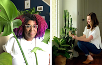 "<p>If you find yourself in a real houseplant dilemma, don't be afraid to reach out to the experts. Stephanie Horton (left) frequently updates her Instagram, <a href=""https://www.instagram.com/botanicalblackgirl/?hl=en"" rel=""nofollow noopener"" target=""_blank"" data-ylk=""slk:@BotanicalBlackGirl"" class=""link rapid-noclick-resp"">@BotanicalBlackGirl</a>, with plenty of plant advice while working to amplify other Black voices within the plant community. <br><br>Caitlin Hastings (right), too, loves working with new plant parents and encourages people to visit her at her shop <a href=""https://botanicabhm.com/"" rel=""nofollow noopener"" target=""_blank"" data-ylk=""slk:Botanica"" class=""link rapid-noclick-resp"">Botanica</a> with locations in both Birmingham and Huntsville, AL. </p>"
