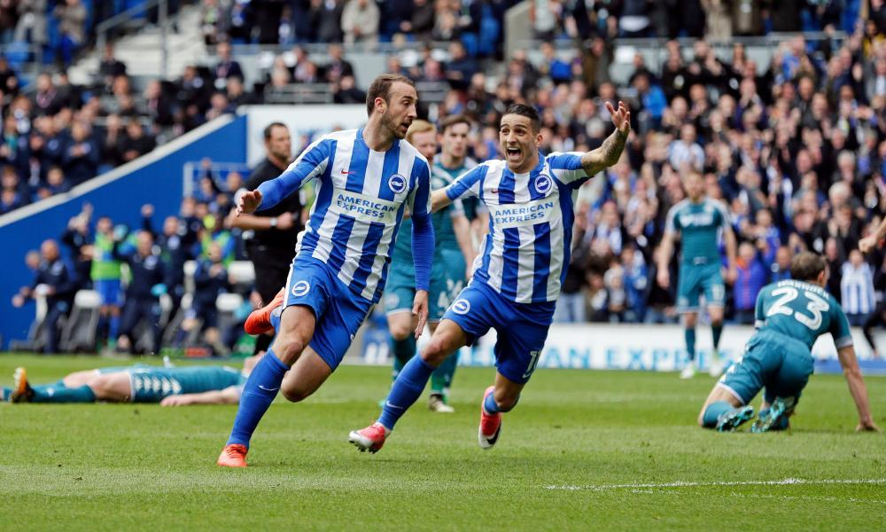 Brighton all but seal promotion to Premier League with victory over Wigan