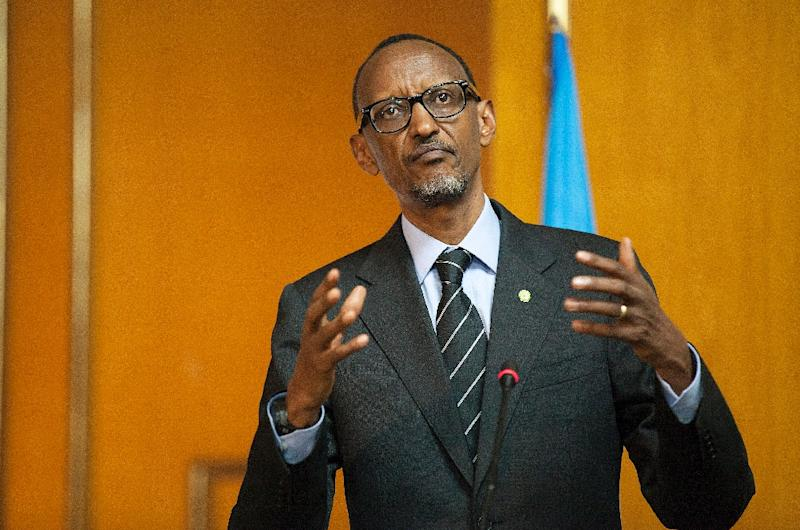 An amendment to the constitution would allow Rwandan President Paul Kagame, 58, to run for an exceptional third seven-year term in 2017 (AFP Photo/Zacharias Abubeker)