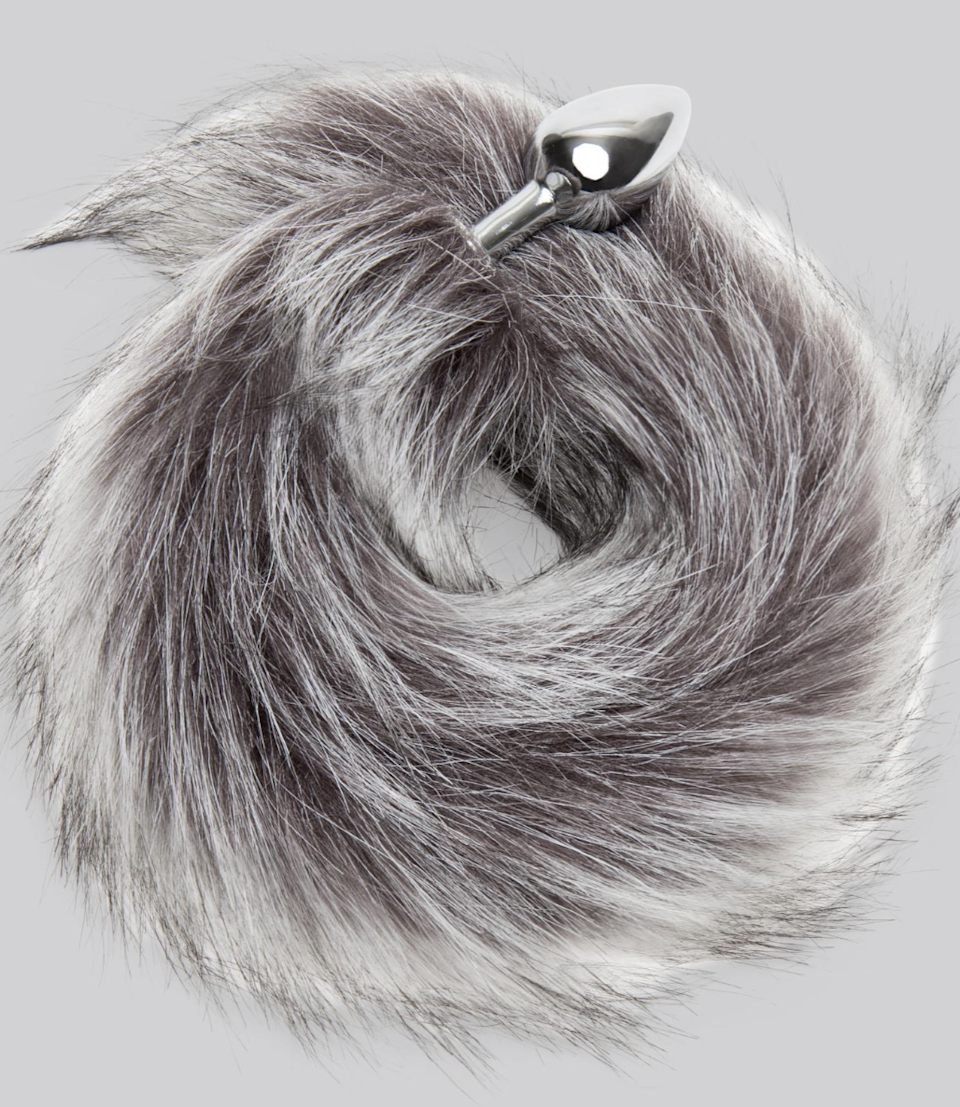 """Honestly, this is not so weird as it is ridiculously adorable. When you insert it, it'll look like you have a fox tail, which is a delight for everyone. Functionality-wise, this butt plug is ideal for beginners, since it's on the smaller side, and it's made with stainless steel which makes it easier and smoother to insert (although it's always recommended you use a generous dollop of <a href=""""https://www.glamour.com/gallery/best-water-based-lubes?mbid=synd_yahoo_rss"""" rel=""""nofollow noopener"""" target=""""_blank"""" data-ylk=""""slk:lube"""" class=""""link rapid-noclick-resp"""">lube</a>, since your butt does not self-lubricate). You can also play with the temps in a way that's a little trickier with silicone (cool it down or heat it up, based on your preferences), and it's simple to clean when you're done, as its not porous at all. $35, Love Honey. <a href=""""https://www.lovehoney.com/sex-toys/butt-plugs/tail-butt-plugs/p/dominix-deluxe-stainless-steel-small-faux-silver-fox-tail-butt-plug/a41277g75177.html"""" rel=""""nofollow noopener"""" target=""""_blank"""" data-ylk=""""slk:Get it now!"""" class=""""link rapid-noclick-resp"""">Get it now!</a>"""
