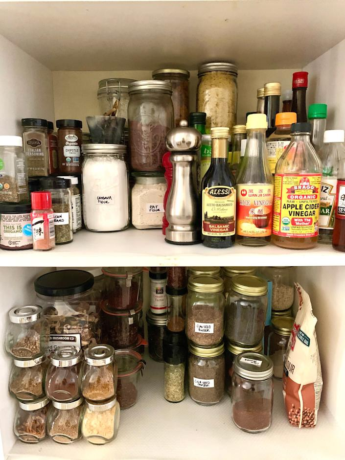 Labeling stackable jars can save you a ton of space in your pantry. (Photo: Palak Patel)
