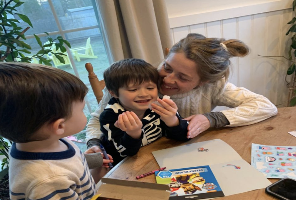 Kristen Teodoro speaks out on the challenges of homeschooling her son Hudson while also working and caring for his 1-year-old brother. (Photo: Kristen Teodoro)