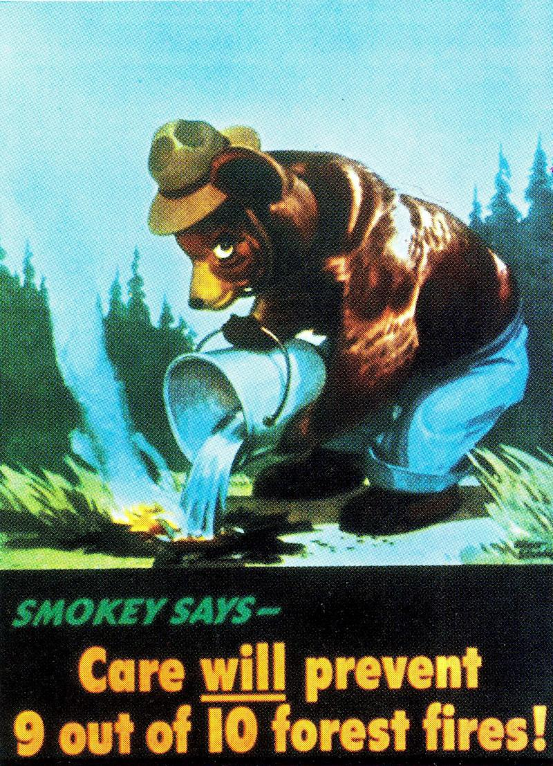 Smokey Bear is pictured in his first Forest Service poster in 1944. (Photo: Handout/Reuters)