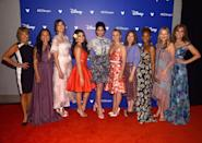 <p>Disney gathered the voices behind some of its greatest princess movies for a special scene in the <em>Wreck-It Ralph 2, </em>including Paige O'Hara (Belle), Irene Bedard (Pocahontas), Mandy Moore (Rapunzel), Auli'i Cravalho (Moana), Sarah Silverman (Vanellope von Schweetz), Kristen Bell (Anna), Kelly Macdonald (Merida), Anika Noni Rose (Tiana), Linda Larkin (Jasmine), and Jodi Benson (Ariel) (Photo: Getty Images for Disney) </p>