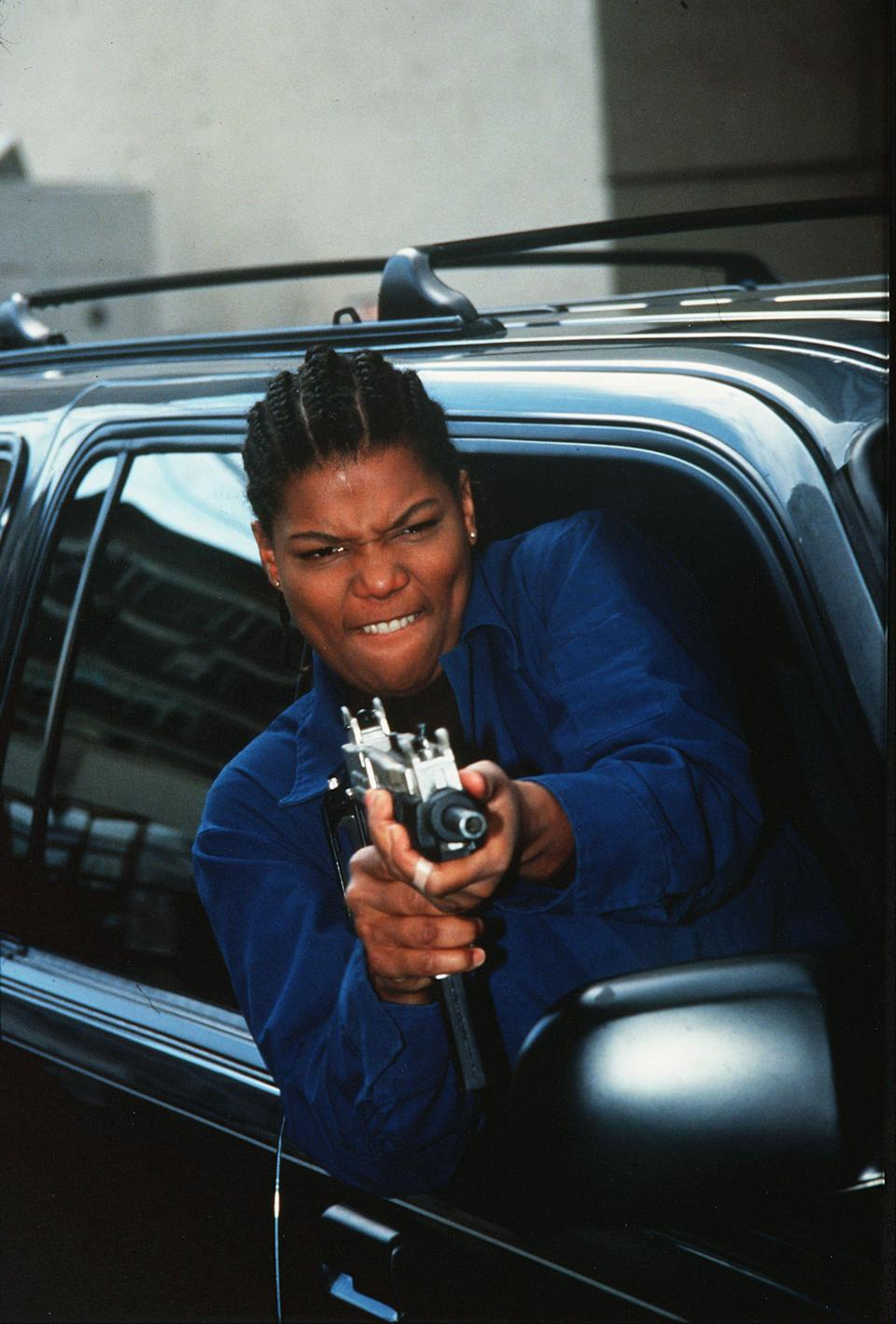 "<strong><h2>Cleo from <em>Set It Off</em></h2></strong><em>Set It Off</em> is one of the most underrated heist movies ever, and Cleo (Queen Latifah) is one of the most underrated movie characters. May she rest in peace. I say we bring her back to life for one night in October.<br><br>All you need is a worker jumpsuit, black boots, and cornrows.<span class=""copyright"">Photo: New Line/Kobal/REX/Shutterstock.</span>"