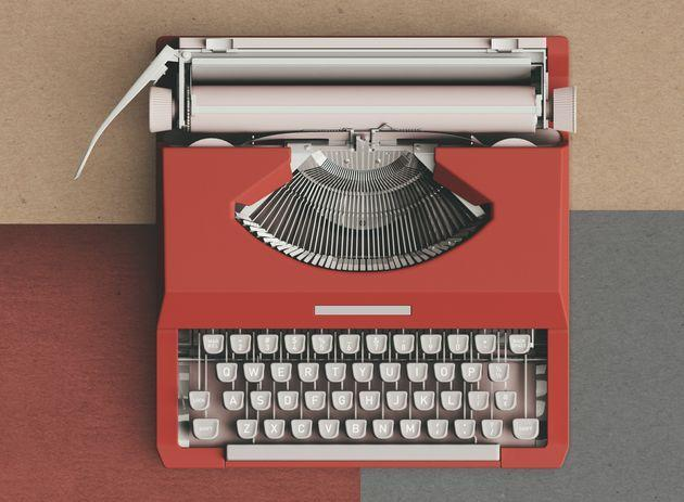 op view of a typewriter from the 70s (Photo: Carol Yepes via Getty Images)