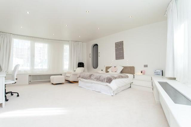 One of the large bedrooms