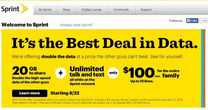 Sprint's Cheapest Ever Family Plan Takes on T-Mobile