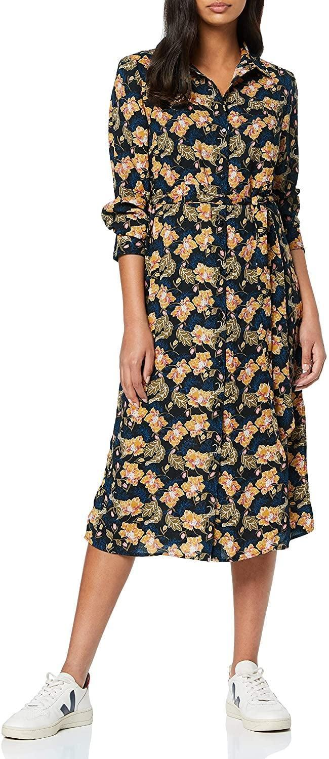 <p>Wear this <span>Find. Mini Floral Shirt Dress</span> ($31-$49) for work.</p>