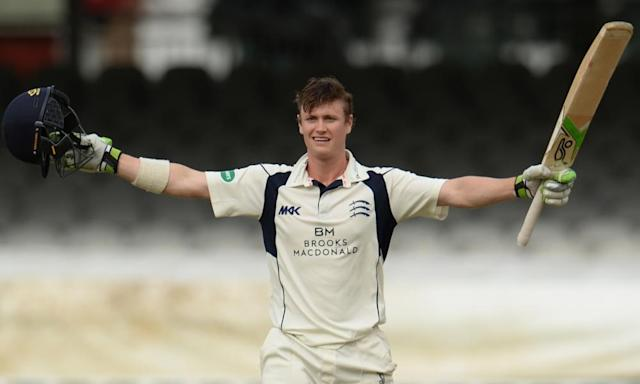 """<span class=""""element-image__caption"""">Nick Gubbins of Middlesex celebrates his century in the Lord's decider with Yorkshire last September.</span> <span class=""""element-image__credit"""">Photograph: Philip Brown/Getty Images</span>"""