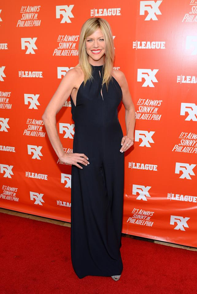 "HOLLYWOOD, CA - SEPTEMBER 03: Actress Kaitlin Olson attends the premiere and launch party for FXX Network's ""It's Always Sunny In Philadelphia"" and ""The League"" at Lure on September 3, 2013 in Hollywood, California. (Photo by Mark Davis/Getty Images)"