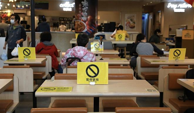 While Hong Kong restaurants are already required to keep diners 1.5 metres apart, government adviser Raymond Chan suggested on Sunday that dining in should be prohibited entirely. Photo: May Tse
