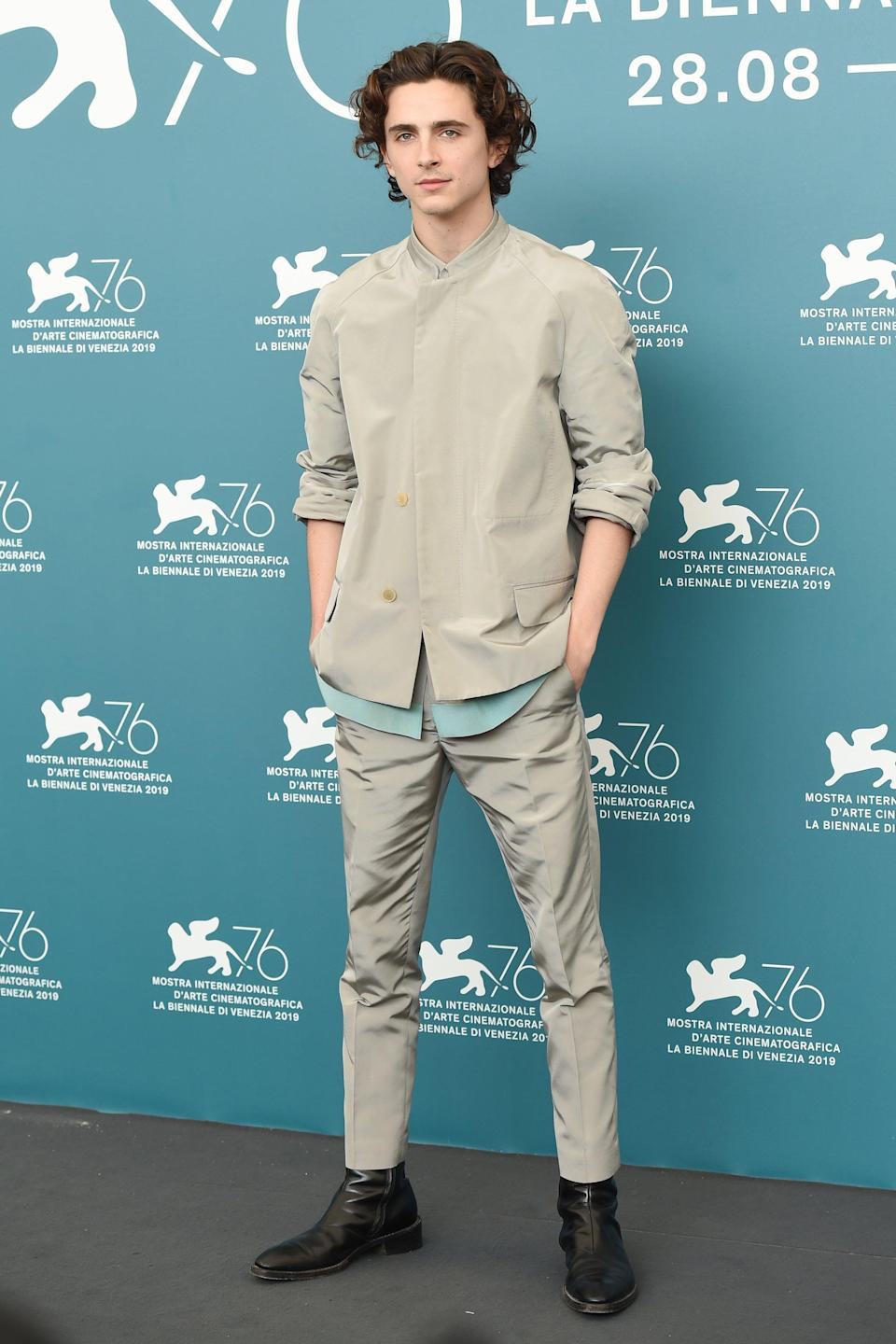 "<h2>Haider Ackermann</h2>The first of two H.A. originals in one night for Timothée Chalamet, who the designer personally nicknamed ""TIMO BRO."" (Same.)<span class=""copyright"">Photo: Stefania D'Alessandro/WireImage.</span>"