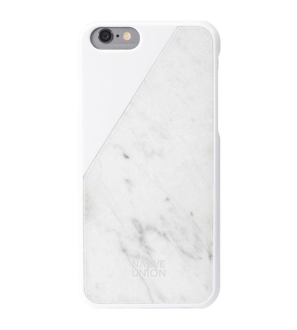"<p>Every iPhone user needs a marble phone case and this white one is extra chic. <a href=""http://www.nativeunion.com/clic-marble/"" rel=""nofollow noopener"" target=""_blank"" data-ylk=""slk:Native Union Clic Marble iPhone Case"" class=""link rapid-noclick-resp"">Native Union Clic Marble iPhone Case</a> ($80)<br></p>"