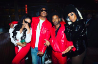 """<p>The songstress hosted a shindig, and of course her bestie Beyoncé was there. You may have heard — <a rel=""""nofollow"""" href=""""https://www.yahoo.com/entertainment/beyonc-jay-z-transform-lil-025302701.html"""" data-ylk=""""slk:Bey was Lil' Kim to Jay-Z's Notorious B.I.G.;outcm:mb_qualified_link;_E:mb_qualified_link;ct:story;"""" class=""""link rapid-noclick-resp yahoo-link"""">Bey was Lil' Kim to Jay-Z's Notorious B.I.G.</a> Meanwhile, the hostess channeled Grace Jones as Strangé from the '90s Eddie Murphy film <em>Boomerang</em>. Fittingly, it looks like Rowland's hubby, Tim Weatherspoon, was Murphy. (Photo: <a rel=""""nofollow noopener"""" href=""""https://www.instagram.com/p/Ba9jGOGjXqf/?hl=en&taken-by=kellyrowland"""" target=""""_blank"""" data-ylk=""""slk:Kelly Rowland via Instagram"""" class=""""link rapid-noclick-resp"""">Kelly Rowland via Instagram</a>)<br><br></p>"""