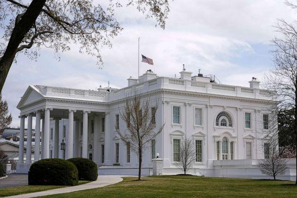 PHOTO: The American flag flies at half-staff above the White House in Washington, March 23, 2021. (Patrick Semansky/AP)