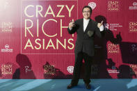 <p>Singaporean photographer Russel Wong poses for photographers at the Singapore premiere of 'Crazy Rich Asians' on 21 August 2018. (PHOTO: Yahoo Lifestyle Singapore) </p>