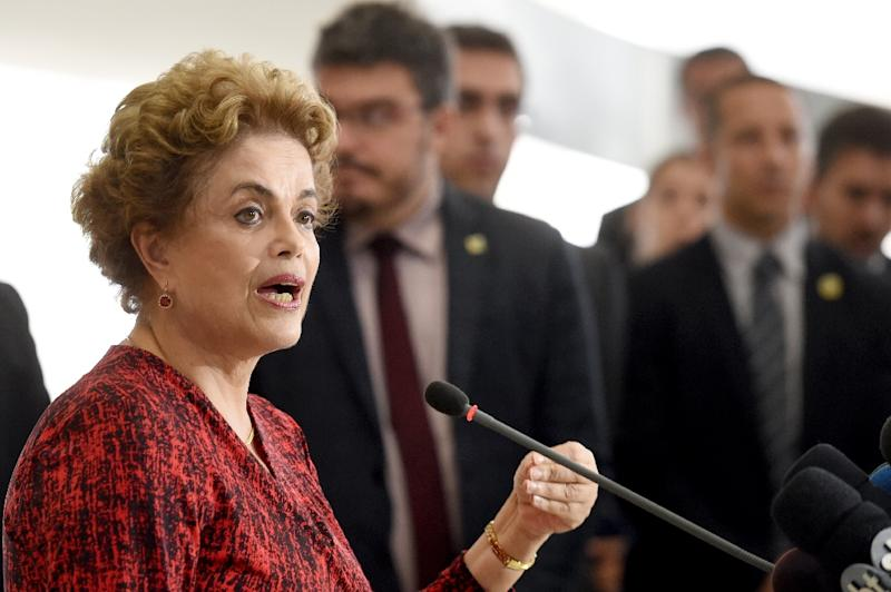 Lashed by a deep recession, an explosive corruption scandal, impeachment proceedings and massive protests, Brazilian President Dilma Rousseff is facing speculation she will not survive her second term (AFP Photo/EVARISTO SA)