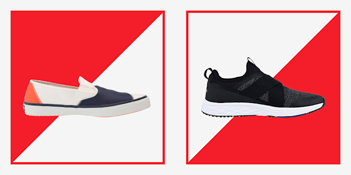 """<p>Slip-on sneakers are the hallmark of warm-weather dressing. There's never a <em>bad </em>time for a sneaker—we welcome kicks at all points of the year—but there is something especially great about slip-ons when it's getting warmer, and again when it's full-on hot. That's because slip-on sneakers are a little less committal than a full sneaker. They literally slip on and off, making them just a slide away from stepping into the pool or heading onto the beach. </p><p>Slip-on shoes are so good for warmer weather because they are worn best with shorts, whether that's <a href=""""https://www.menshealth.com/style/a19541488/chinos/"""" rel=""""nofollow noopener"""" target=""""_blank"""" data-ylk=""""slk:a fresh pair of chinos"""" class=""""link rapid-noclick-resp"""">a fresh pair of chinos</a> or your <a href=""""https://www.menshealth.com/style/a19522980/best-mens-bathing-suits/"""" rel=""""nofollow noopener"""" target=""""_blank"""" data-ylk=""""slk:swim trunks"""" class=""""link rapid-noclick-resp"""">swim trunks</a> out of water, and are best without a visible sock, so opt instead for a non-slippy <a href=""""https://www.menshealth.com/style/g19518031/best-no-show-socks-for-men/"""" rel=""""nofollow noopener"""" target=""""_blank"""" data-ylk=""""slk:no-show"""" class=""""link rapid-noclick-resp"""">no-show</a>. Not ready for shorts yet? Pair 'em with <a href=""""https://www.menshealth.com/style/g25474450/best-mens-sweatpants/"""" rel=""""nofollow noopener"""" target=""""_blank"""" data-ylk=""""slk:joggers"""" class=""""link rapid-noclick-resp"""">joggers</a>. </p><p>To help you find the most comfortable pair with great style, here are the 19 best men's slip-on shoes for every budget. </p>"""