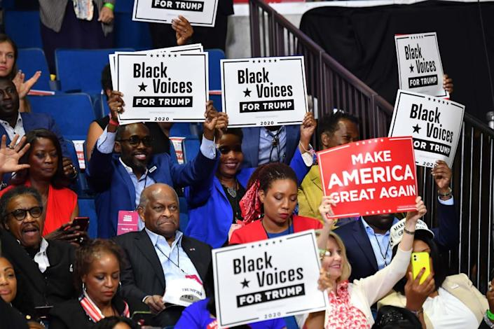"""<div class=""""inline-image__caption""""><p>Herman Cain at a campaign rally on June 20, 2020, in Tulsa, Oklahoma.</p></div> <div class=""""inline-image__credit"""">NICHOLAS KAMM/AFP via Getty</div>"""