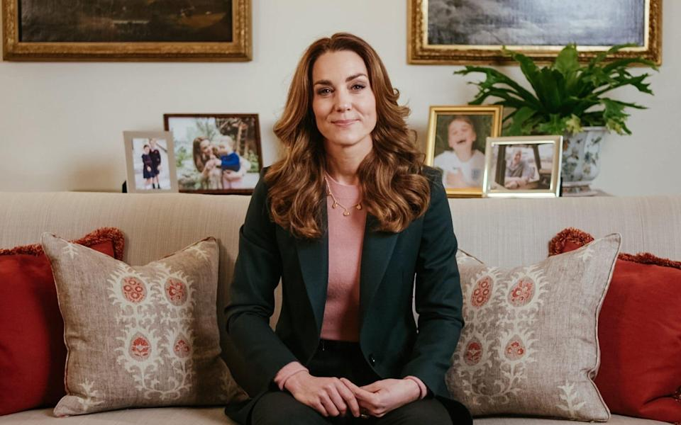 The Duchess of Cambridge in a video released on Monday