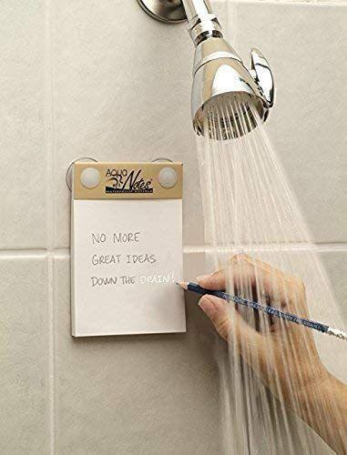 """<p><strong>Aqua Notes</strong></p><p>amazon.com</p><p><strong>$9.75</strong></p><p><a href=""""https://www.amazon.com/dp/B01AS5I0ZS?tag=syn-yahoo-20&ascsubtag=%5Bartid%7C10050.g.36340375%5Bsrc%7Cyahoo-us"""" rel=""""nofollow noopener"""" target=""""_blank"""" data-ylk=""""slk:Shop Now"""" class=""""link rapid-noclick-resp"""">Shop Now</a></p><p>Lots of people say that they get their best thinking done in the shower. The ability to jot things down while showering could be life changing. One reviewer describes it as """"magical."""" </p>"""