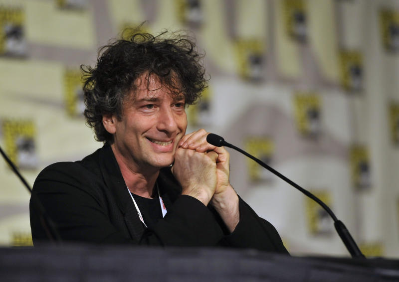 Writer Neil Gaiman attends the Spotlight on Neil Gaiman panel on Day 5 of Comic-Con International on Sunday, July 21, 2013, in San Diego. (Photo by Chris Pizzello/Invision/AP)
