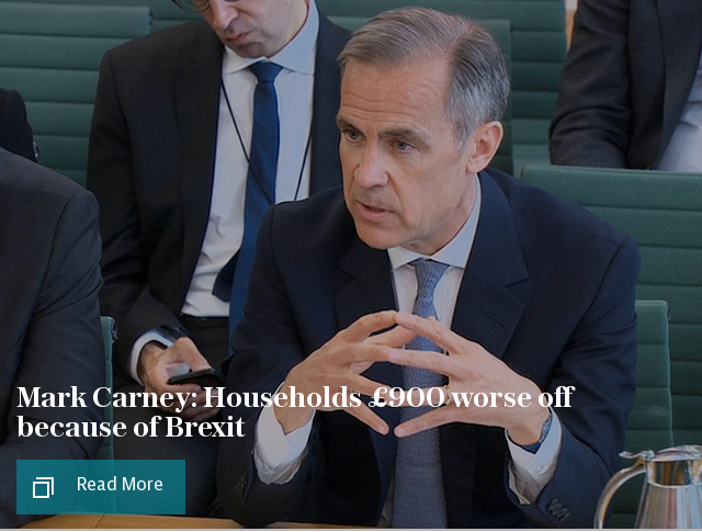Mark Carney: Households £900 worse off because of Brexit