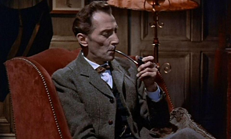 <p>Cushing has played Sherlock on several occasions including Hammer production of <em>The Hounds of Baskervilles</em> (1959), the 15-episode BBC series <em>Sherlock Holmes</em> (1968), and <em>The Masks of Death</em> (1984), which was his last performance as the detective. </p>