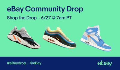 eBay is kicking off the first-ever community sneaker drop, inviting enthusiasts everywhere to list their most coveted pairs this month. The drop will culminate on Wednesday, June 27 at 7:00AM PT, when buyers can shop a curated collection of scouted kicks at eBay.com/SneakerDrop.