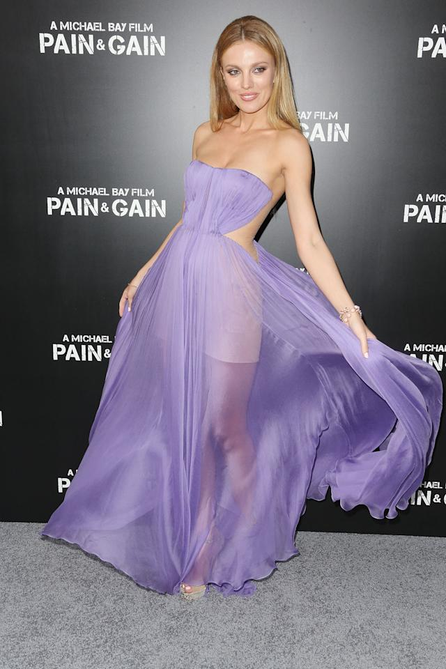 """HOLLYWOOD, CA - APRIL 22: Actress Bar Paly attends the premiere of Paramount Pictures' """"Pain & Gain"""" at the TCL Chinese Theatre on April 22, 2013 in Hollywood, California.  (Photo by Frederick M. Brown/Getty Images)"""