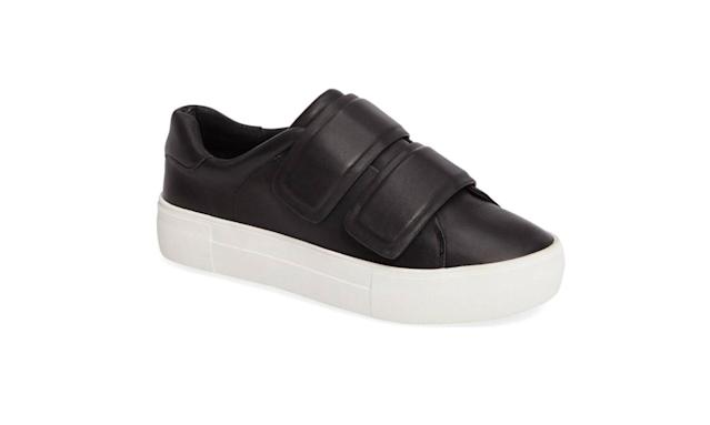 "<p>Adelynn Black Leather, $89,<a href=""http://shopjslidesfootwear.com/jslides-adelynn-black-leather-sneaker.html"" rel=""nofollow noopener"" target=""_blank"" data-ylk=""slk:shopjslidesfootwear.com"" class=""link rapid-noclick-resp""> shopjslidesfootwear.com</a> </p>"