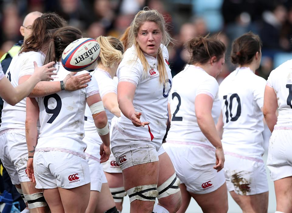 Poppy Cleall starred as England ran it eight tries against Scotland to open their Women's Six Nations campaign  Photo Credit: Action Images via Reuters/Peter Cziborra